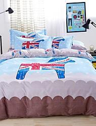 Blue Light House Design Bedding Set Of 4pcs For Four Season Use