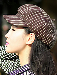 Women  Striped Fashion  Fashion Hat