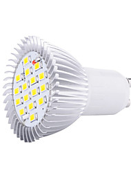 HRY® 8W GU10 16XSMD5630 650LM Warm/Cool White Light LED Spot Light Bulbs (220V)