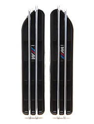 E46 E90 отверстия потока черного /// м сторона крыло воздуха решетка гриль для BMW M3 3 серии