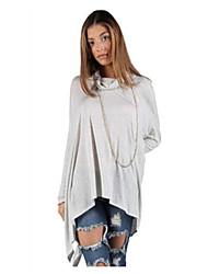 T-Shirt Da donna Floreale A cotta Manica lunga Cotone