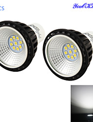 YouOKLight® 2PCS GU10 5W 500lm 9*SMD2835 High brightness/long life LED Cold White Spotlight(AC100~240V)