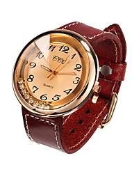 Mulheres Relógio de Moda Quartz Couro Banda marca-
