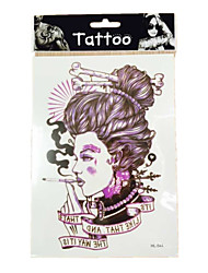 10/PCS New  waterproof temporary smoking woman tattoos sexy body art removable colorful tattoos WST-39