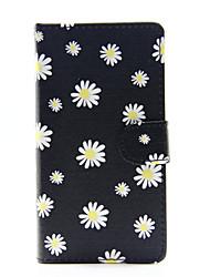 Pour Coque Huawei P8 Lite Portefeuille Porte Carte Avec Support Coque Coque Intégrale Coque Fleur Dur Cuir PU pour HuaweiHuawei P8 Lite