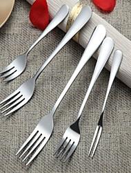 5 peças de aço inoxidável garfo cutelaria jantar de bolo de salada de frutas refeição sobremesa garfo