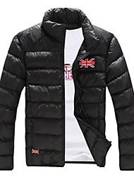 Men's Short Parka Coat , Cotton Pure Long Sleeve