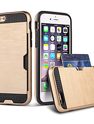 Назначение iPhone 8 iPhone 8 Plus iPhone 6 iPhone 6 Plus Чехлы панели Бумажник для карт Защита от удара Задняя крышка Кейс для броня