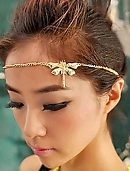 Women Alloy Rhinestone Chain Vintage Headbands Hair Accessories