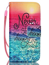 Sea Pattern PU Leather Material Flip Card Phone Case for iPhone 5C