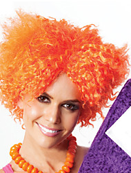 Ultra Low-cost Hot Sell Orange Explosion Curly Synthetic Wigs