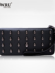 HOWRU ® Women 's PU Long Wallet/Card/Clutch bag-Black/Pink/Silver