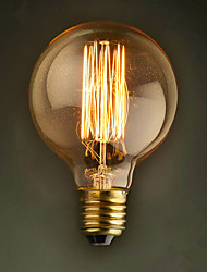 e27 40w g80 reta restaurante fio bola do hotel edison retro decorativo lâmpada