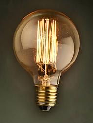 E27 40w G80 прямо Ресторан провод отель мяч Эдисон ретро декоративный лампочку