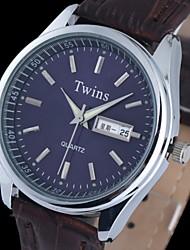 L.WEST Men's Luminous Double Calendar Waterproof Quartz Pointer Watch Wrist Watch Cool Watch Unique Watch