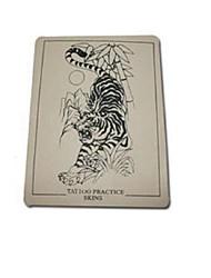 BaseKey 10 PCS Tiger Logo Tattoo Fake Skin For Tattooing Practice 15 x 20cm