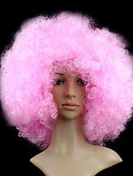Angelaicos Women Super Christmas Pink Curly Halloween Cosplay Wig