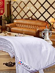 2015 New 100% Silk Blanket Summer Silk Quilt Blanket Striped Design White Comforter Bedding Set
