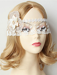White Lace Covered Face Mist Gauze Face Mask
