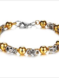 Gold Titanium Bracelet For Men