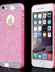 superior em pó forma brilhante do cristal de rocha com furo de volta capinha dura para iphone 4 / 4s (cores sortidas)