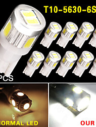 10x t10 blanc haute puissance intérieure 5630 6-SMD inverse ampoule LED 921 912 906