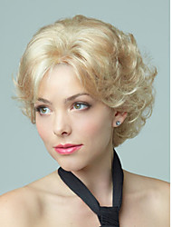 Short Cully Hair European Weave Golden Blonde Hair Wig Top Quality