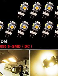 10x g4 5 cms 3500k chaude voiture blanche rv maison de lumière marine voiture 12V DC ampoules marines
