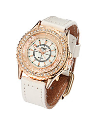 Watch Women Genuine Leather Band Rhinestone Leisure Watch Vintage Wrist Watch Quartz Watches(Assorted Colors) Cool Watches Unique Watches