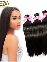 3pcs / lot no procesados extensiones rectas de seda pelo peruano virginal del pelo humano natural, negro 8 '' - 30 '' tejidos de pelo