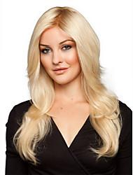 Femme Moyen Blonde Ondulés Cheveux Synthétiques Fabriqué à la machine