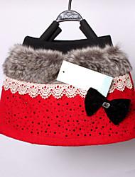 Girl's Black / Red Skirt , Bow Cotton Blend Winter