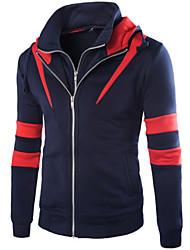 Sets Activewear Pour des hommes Manches longues Décontracté Mosaïque Coton / Polyester