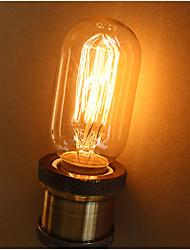E27 25W T45 Straight Wire Decorative Art RETRO Edison Personality Lighting Corridor Balcony