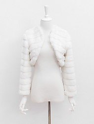 Women Fashion Faux Fur Top , Belt Not Included / Lined Winter Fur Jacket
