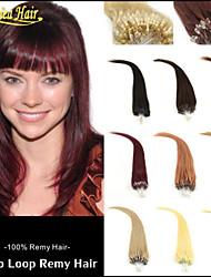 Grade 8a anneau micro 100s d'extension de cheveux 100g / lot micro cheveux de boucle plusieurs couleurs cheveux indiens cheveux Virign