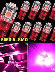 10 pcs nouvelle cale rose T10 5050-SMD ampoules LED W5W lumière 2825 158 192 168 194 12v