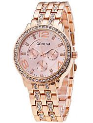 Woman's Watch Geneva Diamond Watch Business Strip In Three Eyes Cool Watches Unique Watches