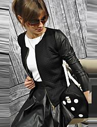 Damen Jacke  -  Leger / Arbeit Langarm Baumwolle Medium
