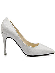 Women's Shoes Leatherette Stiletto Heels / Closed Toe Heels Wedding / Office & Career / Party & Evening / DressSilver