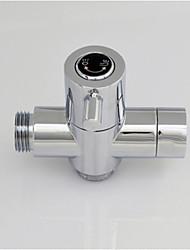cromo g1 / 2 (1/2 '') t-adaptador, bronze núcleo de válvula de bronze sólido separador de água do chuveiro para banho de chuveiro ou bidé
