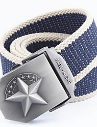 Hombre Cinturón de Cintura Casual - Aleación - Lienzo