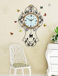 Large Creative Swing Fashion Metal Mute Wall Clock