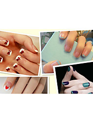 New Chic DIY 12 Style Each PCS  Manicure Nail Art Tips Tape Sticker Guide Stencil 5PCS (Buy One Get One) 10.5x6CM