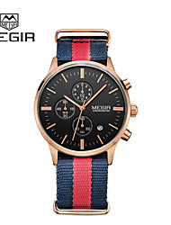 MEGIR® Mens Watches Brand Luxury Fashion Business Watch Quartz-Watch and Waterproof Chronograph Cool Watch Unique Watch