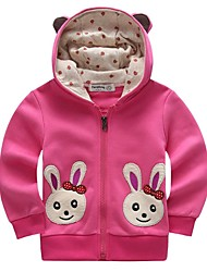 "Girl's Carton Red / Gray Hoodie & Sweatshirt , Cartoon Cashmere / Cotton Winter / Fall""RABBIT"""