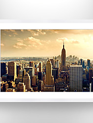 VISUAL STAR®Photo Frame Cityscape Paper Print Art High Quality Wall Art Covered with Glass Ready to Hang