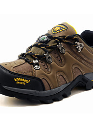Men's Hiking Shoes Leather Khaki
