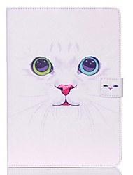 motif de chat blanc Standoff étui de protection pour iPad 2 d'air
