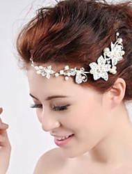 High-End ShanZuan Pearl Headdress Bride Wedding Jewelry Pendant Chain Forehead Between The Brows 1PC